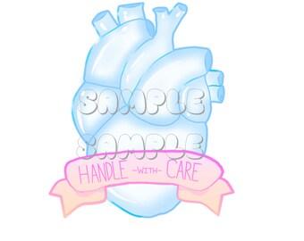 Glass Heart Glossy Sticker