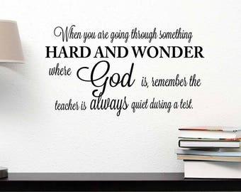 Prayer God Teacher Quiet Vinyl Wall Sticker Inspirational Wall Quote Wall Decal
