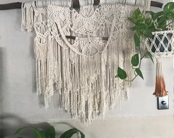Large Macrame Wall Hanging - 'Autumn' / earthy / natural / modern / bohemian / wall decor