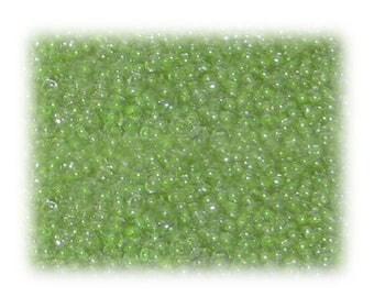 11/0 Soft Apple Green Transparent Glass Seed Beads - 1 oz. bag