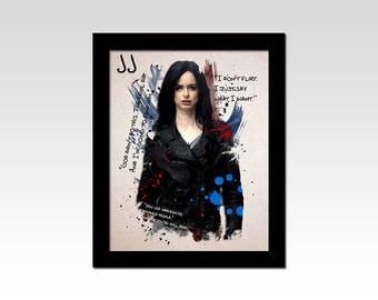 Marvel inspired Jessica Jones ripple effect quotes print