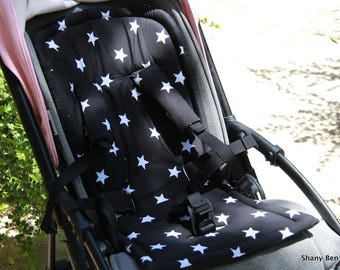 seat stroller liner with strap, stroller pad, pram strap covers, Bugaboo seat, baby carriers&wraps, stroller seat liner, Babyzen Yoyo, star