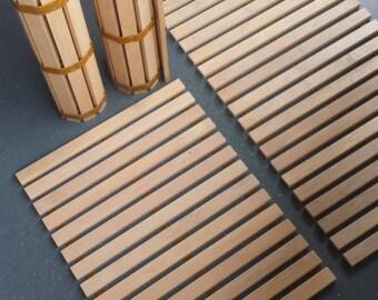 Alder wood mats
