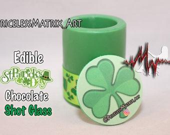 Edible Saint Patrick's Day chocolate shot glass, personalizes / Custom design Pricelessmatrix PricelessmatrixArt