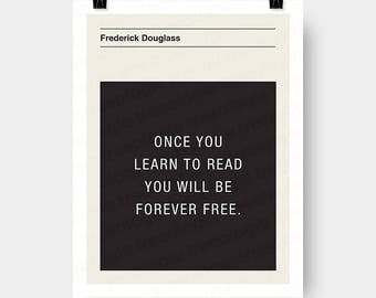Frederick Douglass Quote Wall Art Digital Download