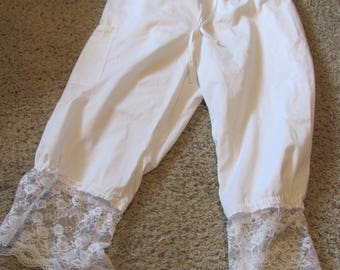 Upcycled Bloomers, pantalettes, drawers, stage costume, cosplay, knickers. historical, wagon train, trek, pioneer (large)
