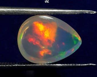 9x11 mm Amazing Quality Natural Ethiopian Opal pear Cabochon  AAA+++ Quality Welo Fire Opal Oval Shape opal Gemstone
