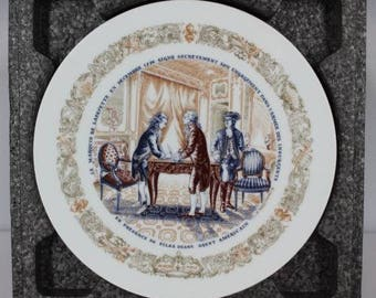 D'Arceau Limoges Lafayette Legacy Collection Collectors Plate Number #1 COA