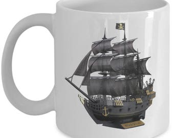 15 oz Black Pearl Pirate Ship Mug