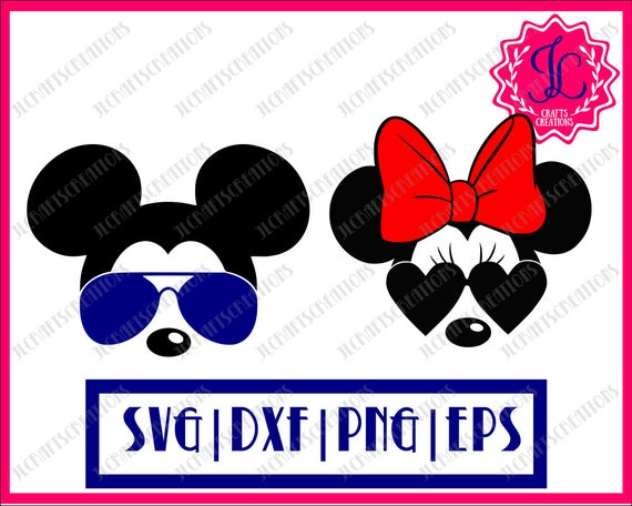 minnie svg mickey svg disney svg mickey sunglasses minnie