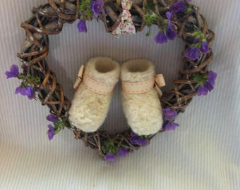 Pregnancy ,Gender reveal handmade booties, perfect gift for Grandparents Christening gift for Godparents,a lovely keepsake,Photo prop