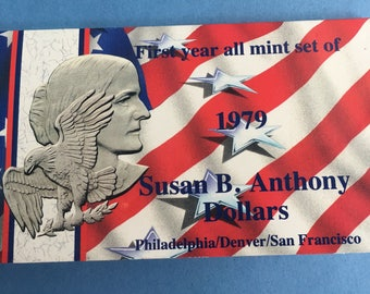 1979 Susan B Anthony First Year Mint Set