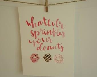 Donuts Watercolor