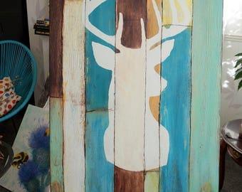 Recycled Deer Head Wall Art