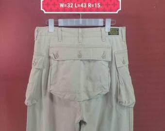 Vintage Schott NYC Pant Khakis Pant Camo Pant US Military Issue Brown Colour Size M Military Pants Comme Des Garcons Pants Cargo Pants