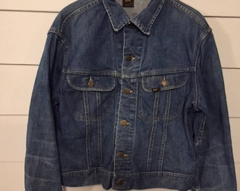 Vintage 1970s Lee Denim Jean Jacket Made in USA