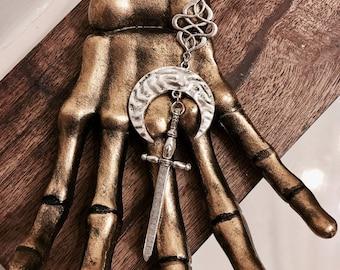Moon & Sword Necklace