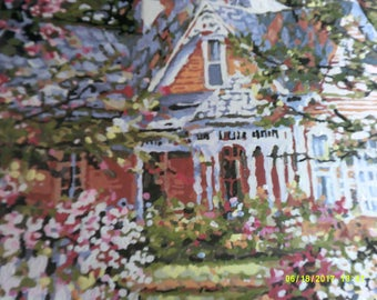 16 x 20 inch painting - house & garden