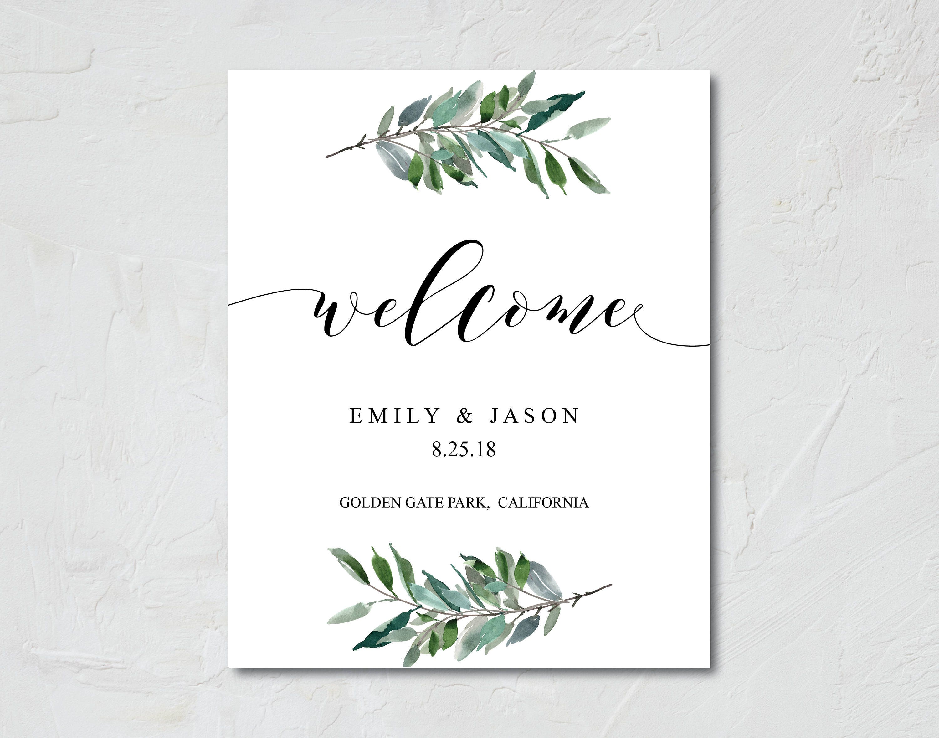 html welcome page template - greenery wedding greenery wedding welcome sign wedding