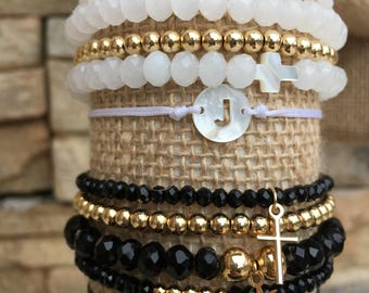 Stack of Beaded Bracelets