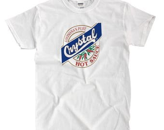 Crystal Hot Sauce - White Shirt - Ships Fast! High Quality!
