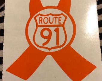 Route 91 survivor decal 4in x 6in