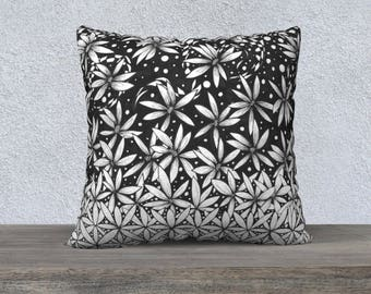 Flower of Life Floral Cascade Decorative Pillowcase