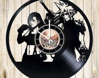 Final Fantasy XV Vinyl Record Wall Clock gift idea wall art decor