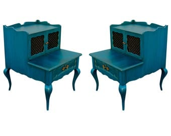 Mid-Century French Style Nightstands - Vintage Nightstands
