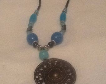 Pendant Necklace from Amber Beads