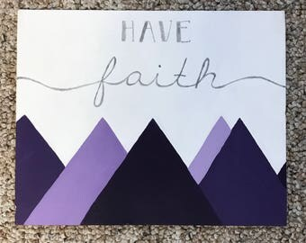 Have Faith Quote Canvas Painting