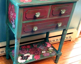 Hand Painted Bohemian Hall Table