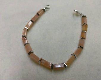 Carnelian and Hematite Beaded bracelet