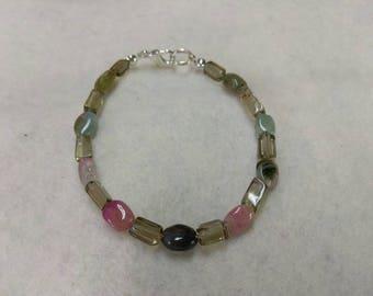 Smoky Quartz and Tourmaline Beaded bracelet