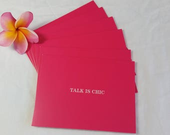 Pink Note Cards Set of 6 with Envelopes