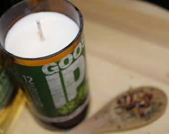 Recycled Beer Bottle into Soy Candle