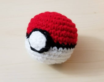 Pokeball crochet catnip cat toy,  Pokemon inspired
