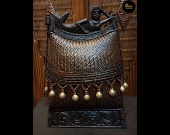 Antique Mermaid Tribal Shoulder Bag