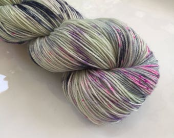 Hand Dyed Yarn - One of a kind - 100% wool - fingering weight / sock yarn - Moor