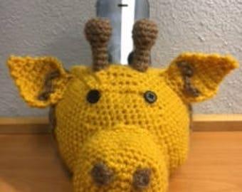 Crochet Giraffe Smart Phone Holder