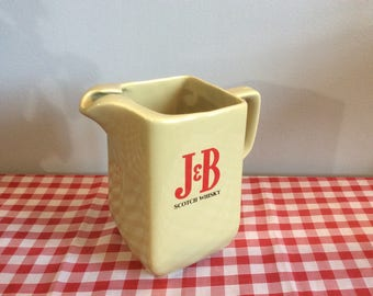 Vintage Wade Pottery J & B Scotch Whisky Pitcher, Water Pitcher Advertising Ware, Wade Jug