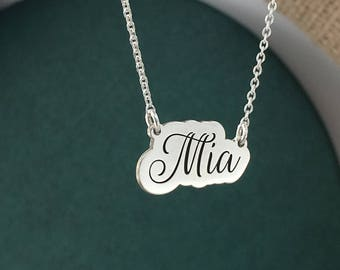 Name necklace, Custom pendant, Mia, Special gift, Birthday gift, Personalized pendant