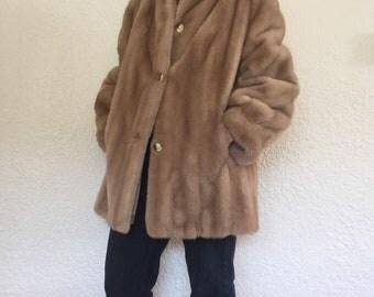 Luxurious Vintage Faux Fur Coat