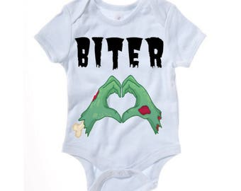 Zombie - Biter funny baby grow - baby clothes