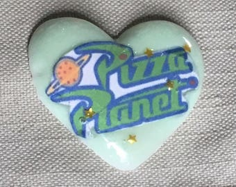 Pizza Planet Pastel Space Resin Charm