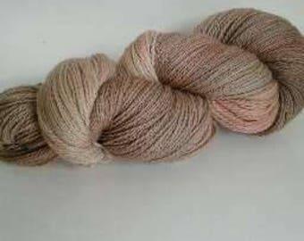 Sea Shell, hand dyed yarn, highland wool, fingering weight