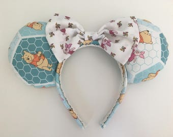 Winnie the Pooh & Piglet Disney inspired Mickey/Minnie/Mouse Ears