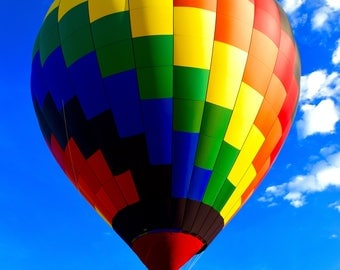 Hot Air Balloon Photo, Wall Art Print, Photography, Fine Art, Digital Download
