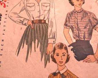 Vintage Blouse Pattern---Simplicity 3656---Size 14  Bust 32  UNCUT ******