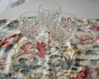Vintage crystall glasses set of three  - Food Styling & Photography Prop